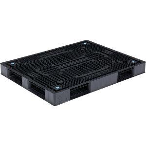【運搬作業用品-パレット】サンコープラスチックパレット4方差し片面使用型D4-1114 <大型・重量商品>