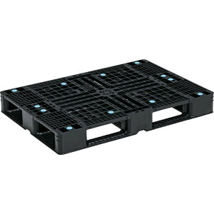 【運搬作業用品-パレット】サンコープラスチックパレット4方差し片面使用型D4-077110 <大型・重量商品>