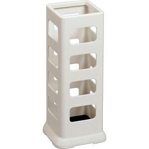 【はしご・脚立・足場台-踏み台】小原産業 傘立て 角型8本 ホワイト UB422