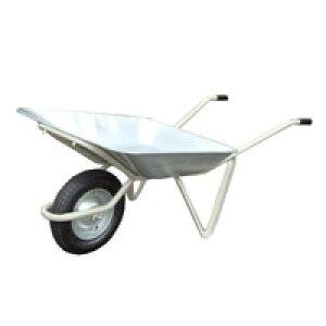 【運搬作業用品-一輪車】日本製一輪車 2才 浅型 チューブ入り車輪付(猫ネコねこ車) <大型・重量商品>