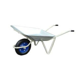 【運搬作業用品-一輪車】日本製一輪車 2才 浅型 パンクレス車輪付(猫ネコねこ車) <大型・重量商品>