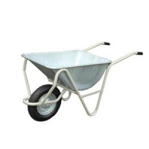 【運搬作業用品-一輪車】日本製一輪車 3才 深型 チューブ入り車輪付(猫ネコねこ車) <大型・重量商品>