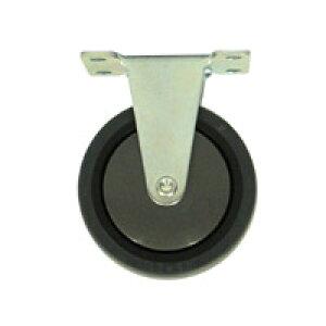 【運搬作業用品-台車部品・キャスター・車輪】プラキャリーラック ライト君用キャスター 75mm固定車輪(後輪)