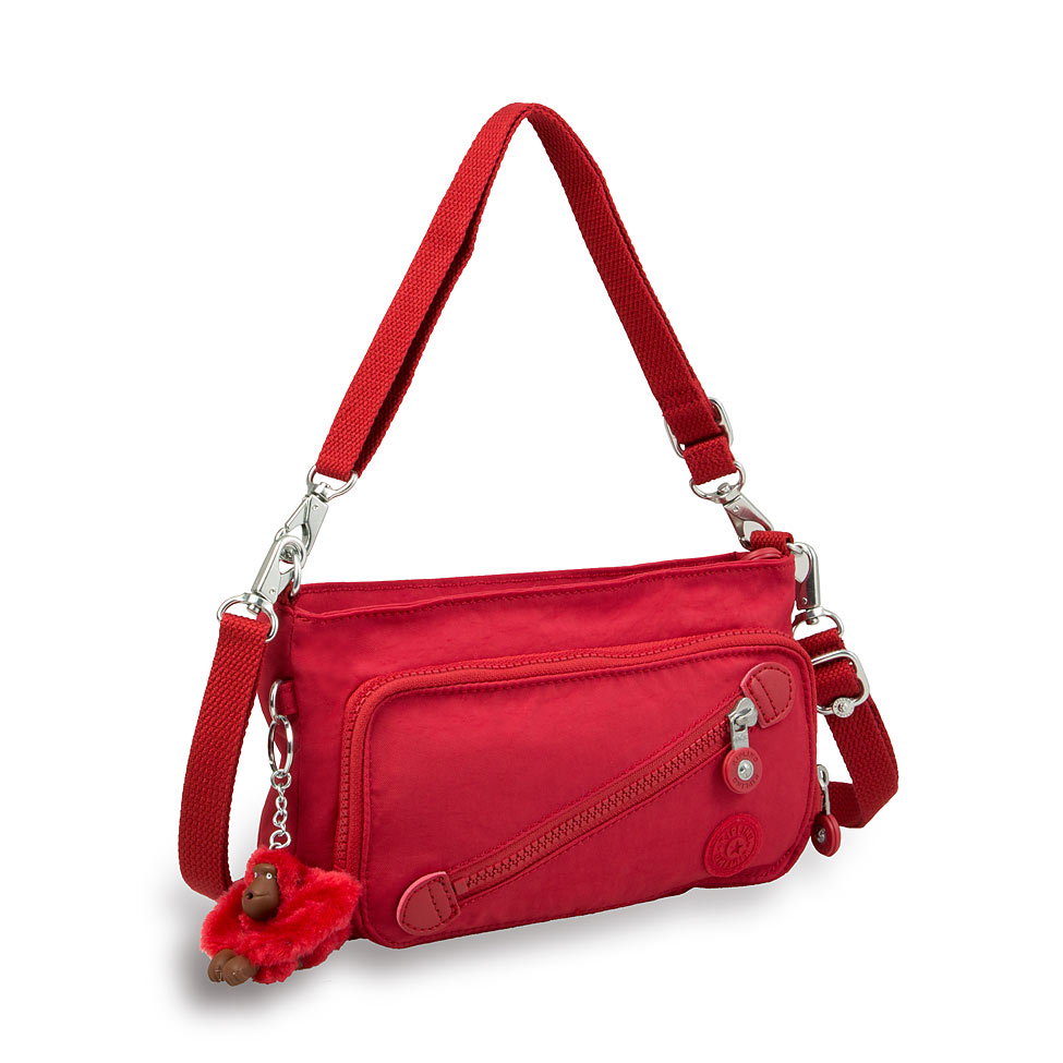公式キプリングMILOS(Warm Red)ショルダーバッグ