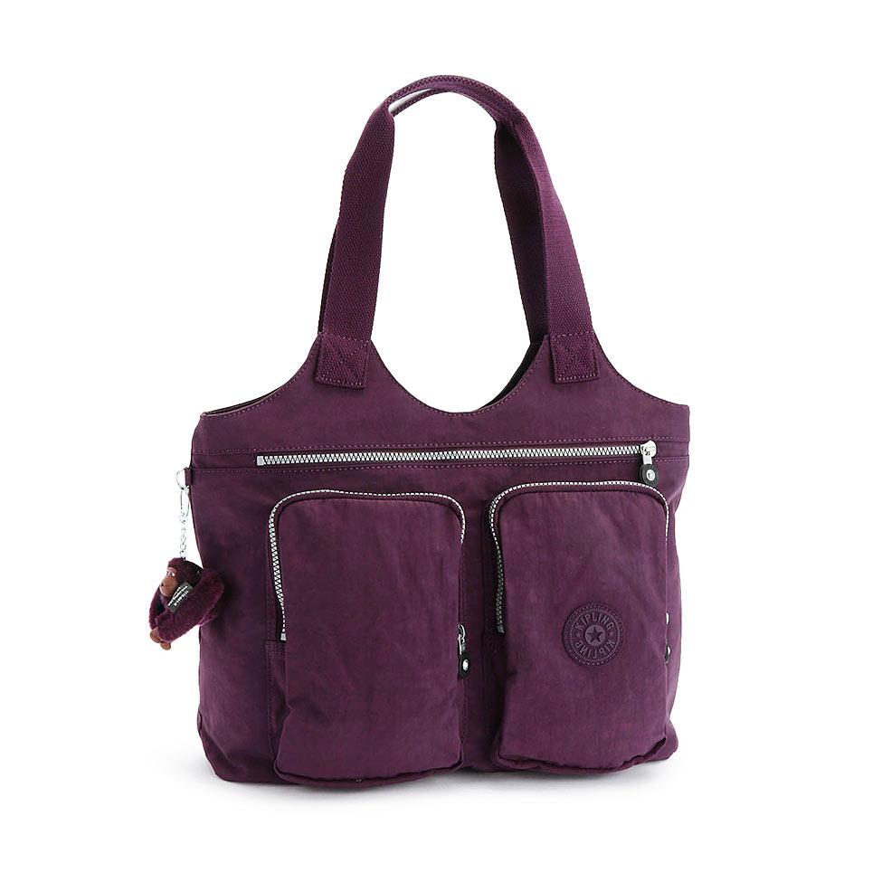 公式キプリングARMIDE(Plum Purple)トートバッグ