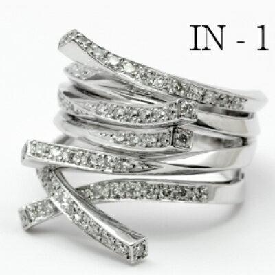 """Infinity IN-1 K18WG リング ダイヤモンド インフィニティ 神田うのダイヤモンドジュエリー""""DuNoA""""デュノア"""