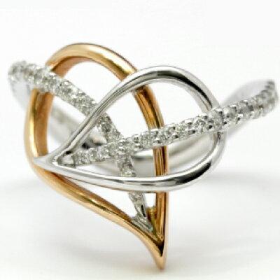 K18PG/WG ダイヤモンドリング『神田うの DiamondJewelry Leaves LE-2』