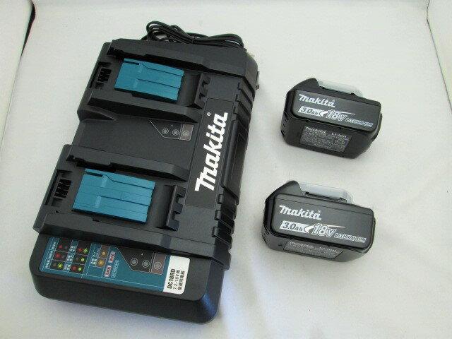 マキタ 2口急速充電器DC18RD+18VリチウムイオンバッテリBL1830B×2個 [蓄電池]