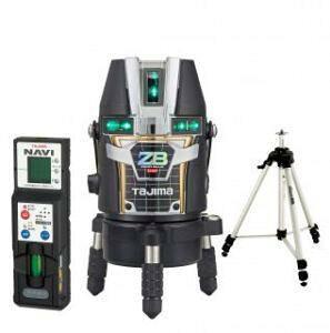 タジマ (品番:ZEROBLN-KJCSET) NAVI ZERO BLUEリチウム-KJC 受光器・三脚セット [本体+受光器+三脚] レーザー墨出し器