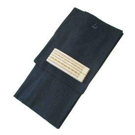 メンズ 浴衣 2点 セット LLサイズ 亀甲(青)の浴衣 生成り色の献上角帯 [m835] コーディネート 帯 ナカノヒロミチ