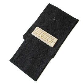 メンズ 浴衣 2点 セット LLサイズ 絣(黒)の浴衣 生成り色の献上角帯 [m837] コーディネート 帯 ナカノヒロミチ