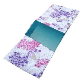 ■レディース 浴衣 2点 セット フリーサイズ 斜め縞に紫陽花(水色地) 青緑色のぼかし帯 [y3193] ゆかた 変わり織 コーディネート 帯