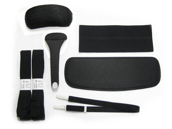 【喪服専用】 かんたん着物 着付け 6種7点 セット 帯板、帯まくら、伊達締め、コーリンベルト、帯どめ、腰紐×2本【RCP】