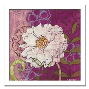 【お得クーポン配布中】アートパネル Kate Birch画 白いシャクヤク2 花 アートフレーム 玄関に飾る絵画 おしゃれ 絵画 インテリア 壁掛け 額入り 額装込 リビング 玄関 額 プレゼント 額絵 ギフ