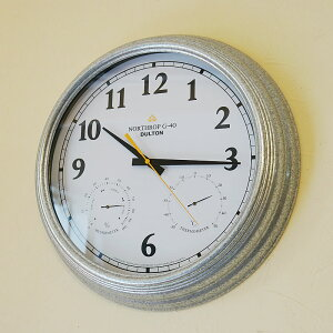 DULTON ダルトン ウォールクロック 掛け時計 おしゃれ 湿度計 温度計付【送料無料】インダストリアル調 壁掛け 時計 インテリア 雑貨 おしゃれ 時計 輸入雑貨 インテリア雑貨 おしゃれ プレゼ