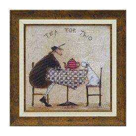 サムトフト「2人でお茶」Gel加工 Sam Toft 絵画 インテリア 壁掛け 絵画 額入り 絵画 ポスター 絵画 海 インテリア雑貨 アンティーク調 風景 動物 ヨーロピアン インポート 玄関 リビング ギフト 複製画 ポスター インテリア 北欧