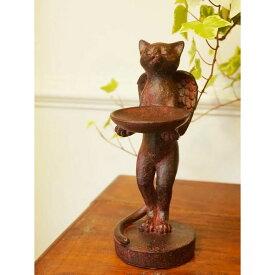 Rust キャットエンジェル:猫の天使 猫雑貨 【あす楽】置物 :可愛い・おしゃれ 雑貨 の ねこの置物・指輪やイヤリングなど小物置きにピッタリ!癒やしアイテムです。 インテリア雑貨 おしゃれ 置物 アンティーク 小物