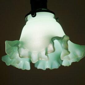 アンティーク風ランプ シェード:グリーン色(ファイヤーキング風)シェードのみ おしゃれ ランプ用 輸入照明器具 インテリア 置物 ヨーロッパ アンティーク