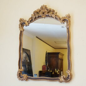 鏡 クラシックミラー ブラウン&ゴールド【送料無料】イタリア ミラー 壁掛け おしゃれ ミラー アンティーク 姿見 ミラー 全身 壁掛け 鏡 壁掛け アンティーク 鏡 壁掛け おしゃれ 北欧 ロココ インテリア雑貨 おしゃれ 玄関