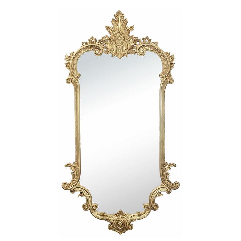 イタリア製 クラシックスタイル 壁掛けミラー ゴールド・鏡 木彫風【あす楽】【送料無料】 おしゃれ鏡 アンティーク家具 鏡 壁掛け おしゃれ 鏡 全身鏡 姿見 ロココ クラシック 鏡 姿見 ミラー 全身 壁掛け アンティーク