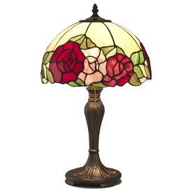 ステンドグラス ランプ スタンド 薔薇 ローズ EM-119【送料無料】LED球使用可 ステンド ランプ テーブルランプ ランプシェード ステンドグラス 人気 おしゃれ 雑貨 ヨーロピアン アンティーク風 インポート 照明器具