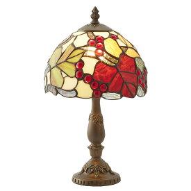 ステンドグラス ランプ スタンド 葡萄 ブドウ ES-075【送料無料】LED球使用可 ステンド ランプ テーブルランプ ランプシェード ステンドグラス 人気 おしゃれ 雑貨 ヨーロピアン アンティーク風 インポート 照明器具