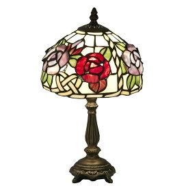 ステンドグラス ランプ スタンド 立体の薔薇 ES-058【送料無料】LED球使用可 ステンド ランプ テーブルランプ ランプシェード ステンドグラス 人気 おしゃれ 雑貨 ヨーロピアン アンティーク風 インポート 照明器具