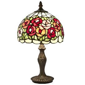 ステンドグラス ランプ スタンド 薔薇 サークルローズ ES-007【送料無料】LED球使用可 ステンド ランプ テーブルランプ ランプシェード ステンドグラス 人気 おしゃれ 雑貨 ヨーロピアン アンティーク風 インポート 照明器具