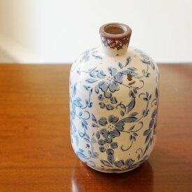シノワズリー柄 花瓶 M フラワーベース 置物 陶器製 花器 おしゃれ イタリア小物 インテリア雑貨 ヨーロッパ雑貨 アンティーク雑貨 インポート雑貨 ヨーロピアン雑貨