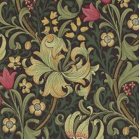 【お得クーポン配布中】ウィリアムモリス 壁紙【ゴールデン リリー Golden Lily】おしゃれ 壁紙 ウォールペーパー クロス 輸入壁紙 イギリス製 アンティーク 壁紙 植物 ボタニカル インテリア 本物 Morris【g-l-210403】