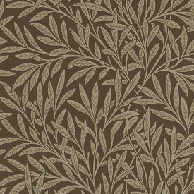 【お得クーポン配布中】ウィリアムモリス 壁紙【ウイロー Willow】おしゃれ 壁紙 ウォールペーパー クロス 輸入壁紙 イギリス製 アンティーク 壁紙 植物 ボタニカル インテリア 本物 Morris【m-w-210380】