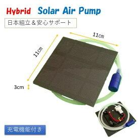 ハイブリッド ソーラー エアーポンプ 蓄電水槽 釣り 太陽電池 ソーラー エアポンプ