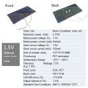 1.5V 500mA 110mm * 55mm (単結晶)工作用 ソーラーパネル 太陽電池