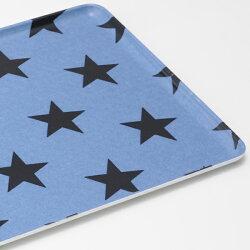 トレー星柄ブルー30cm