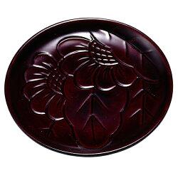 銘々皿菊彫りうるし塗り5枚セット