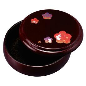 菓子器 蓋付き 菓子鉢 溜 宴うさぎ 21cm お菓子入れ おしゃれ かわいい 来客