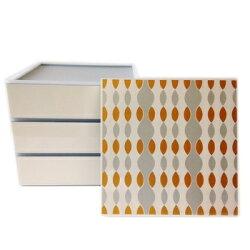 仕切り・シール蓋付の3段重箱「シルバーゴールド」