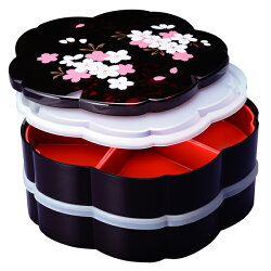重箱2段仕切り・シール蓋付桜型別甲さくら