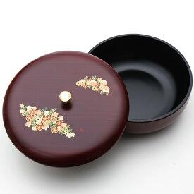 菓子器 蓋付き 木目塗り 都春秋 お菓子入れ おしゃれ かわいい 来客