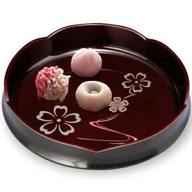 菓子器 菓子鉢 梅型 溜塗 華ゆらぎ 24cm お菓子入れ おしゃれ かわいい 来客