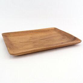 木製 食器 アカシア レクタングルトレー XLサイズ お皿 プレート 木のお皿