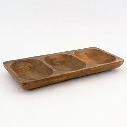 アカシア食器木製レクタングルトレーMサイズ仕切り付