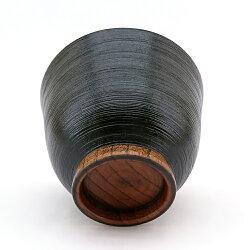 お椀汁椀木製多用椀刷毛目黒漆塗り