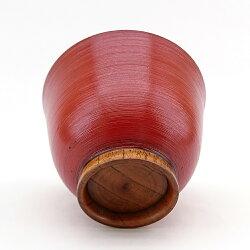 お椀汁椀木製多用椀刷毛目朱漆塗り大きめ大きい雑煮椀