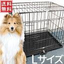 ペットケージ 折りたたみ 犬 ケージ 小型犬 中型犬 Lサイズ 60×43×51cm スライドトレー付き ペットサークル ペットフェンス 折り畳み うさぎ ウサギ 猫 ペット用品 送料無料 sh