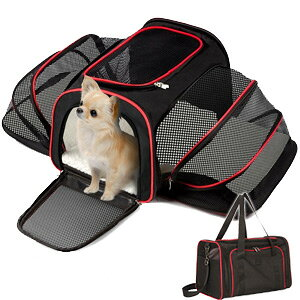 ペットキャリーバッグ 拡張 折りたたみ 猫 防災 グッズ ペットケージ ペットゲージ ペットキャリーケース ソフトキャリー ドライブボックス キャリーバック ソフト 蛇腹式 軽量 小型犬 送料