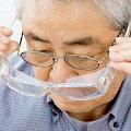拡大鏡ルーペメガネ男女兼用拡大率1.6倍老眼鏡メガネ型携帯眼鏡めがねシニアグラスオーバーグラス型ルーペオールクリアカクセー送料無料***ss06