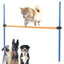 ジャンプバー ハードル 犬用 障害物 ドッグアジリティ アンカータイプ ドッグラン 組み立て アンカー式 犬 訓練 練習 …