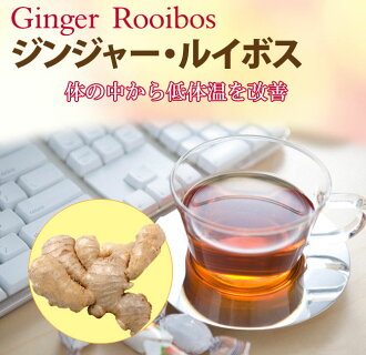 """Ginger, Rooibos, tea bags 20 follicles"