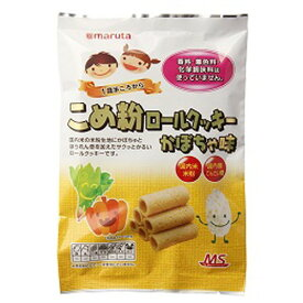 【創健社】 太田油脂 MSこめ粉ロールクッキー かぼちゃ味 10個入り 6袋セット